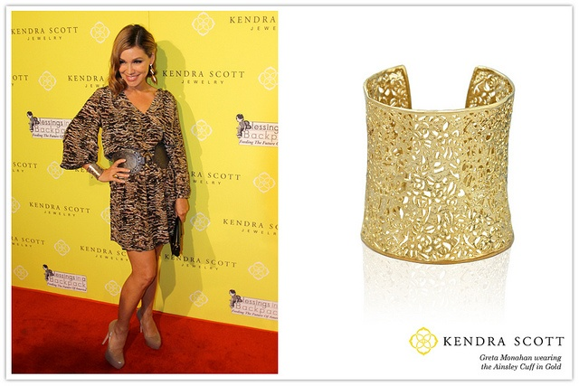 Celebrity Greta Monahan wearing Kendra Scott Fashion ...