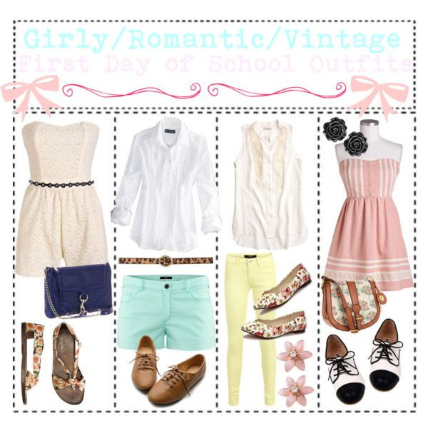 Girly Vintage Outfits Fashion Look From August 2012 Featuring American Eagle Outfitters