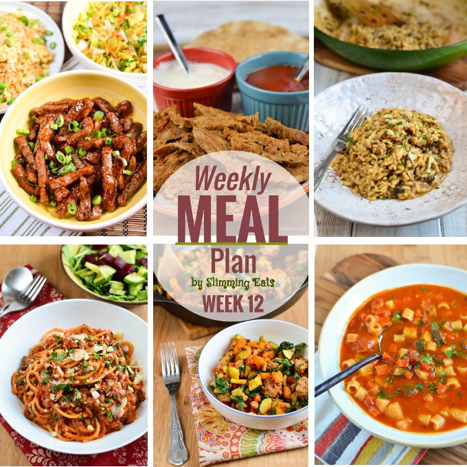 Slimming Eats Weekly Meal Plan - Week 12. Slimming World meal plans brought to you by Slimming Eats. All you have to do is enjoy the delicious food.