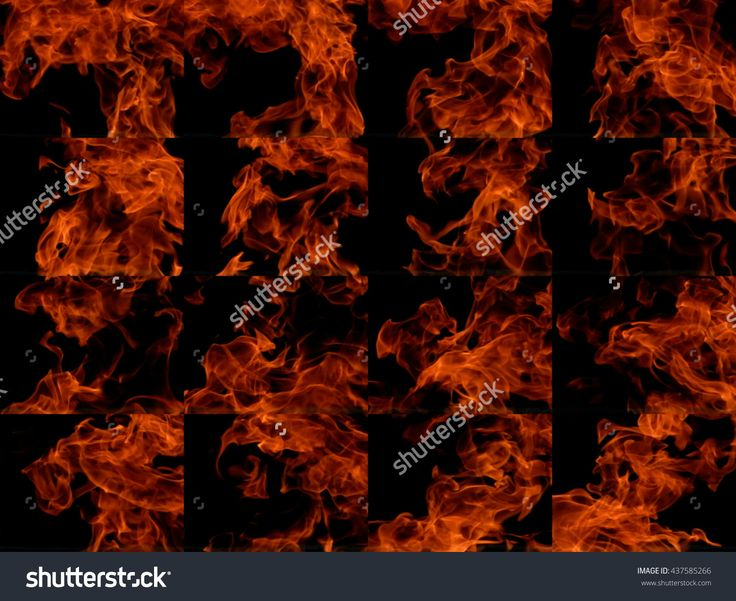 A Collection Of High-Resolution Bright Fire Flames On A Black Background Стоковые фотографии 437585266 : Shutterstock