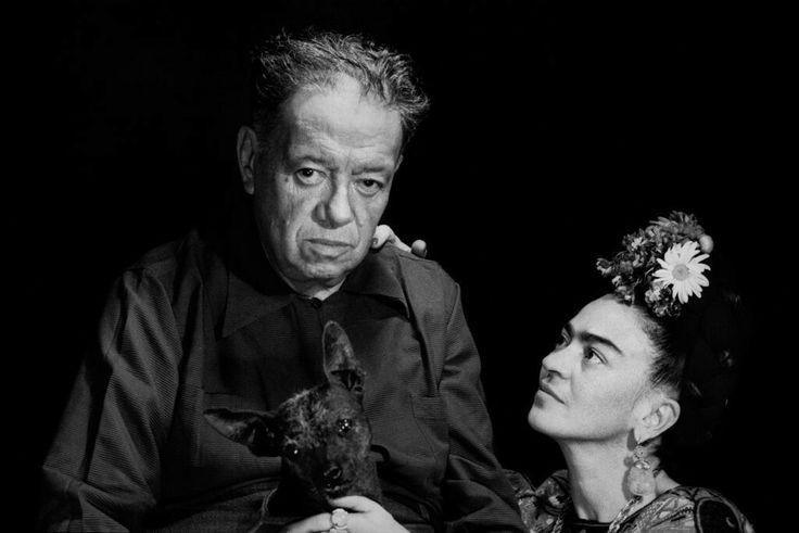 Marcel Sternberger, Diego Rivera and Frida Kahlo, Mexico City, 1952. Courtesy of Frida Kahlo Corporation, © Stephan Loewentheil.