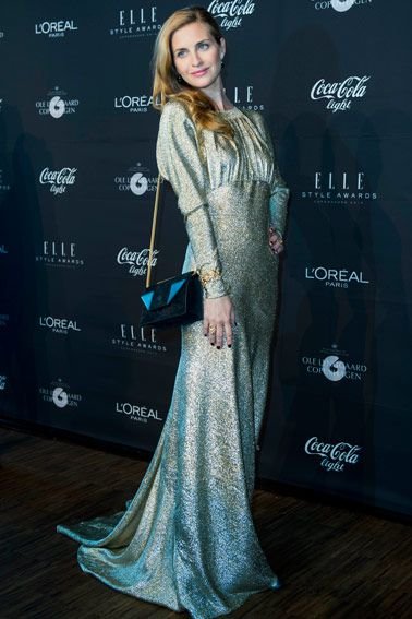 Danish actress Beate Bille in a Stella McCartney dress at Elle Style Awards on May 15th 2013