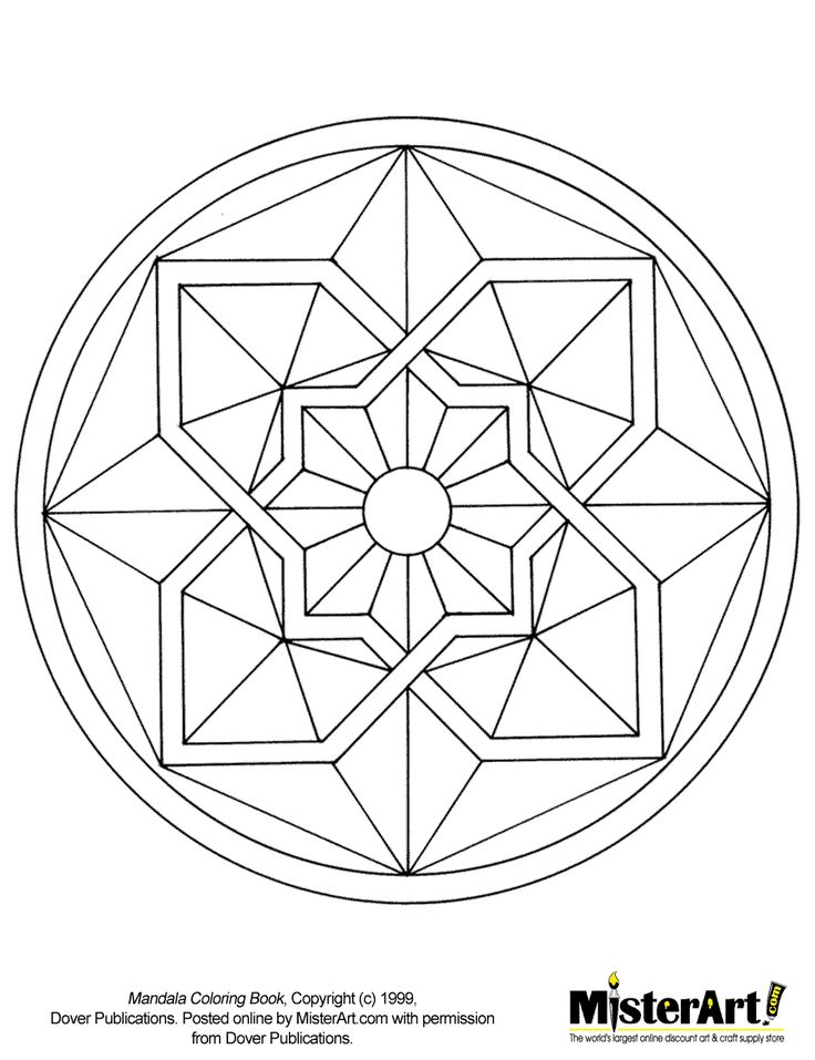 Free Mosaic Patterns To Print | Free Coloring Page: Mandala Coloring Book, Download Free Crafts for ...