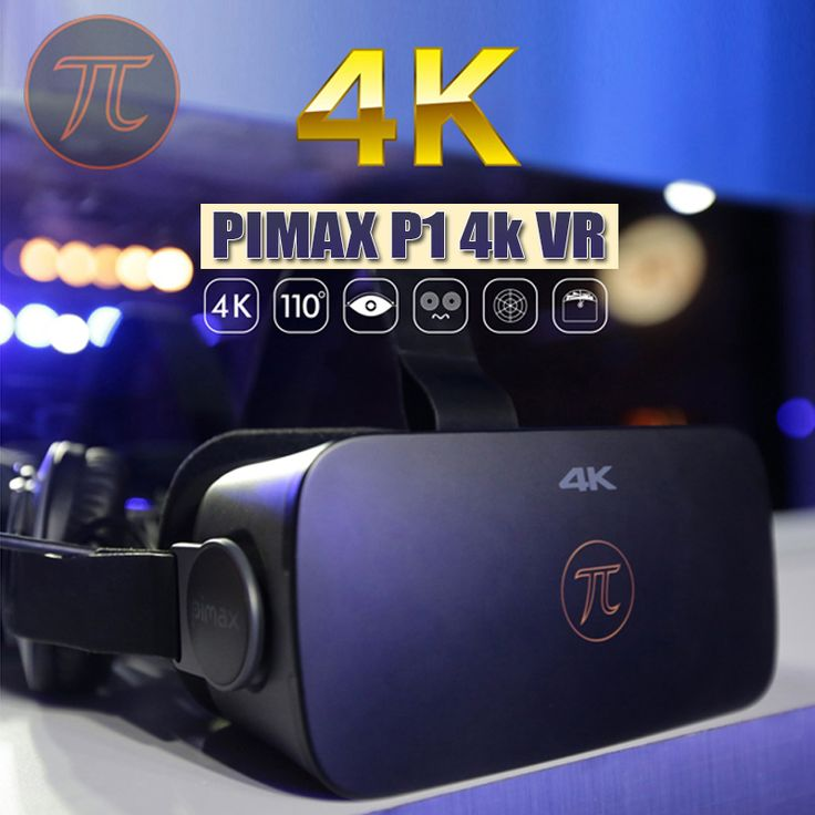 PIMAX 4K UHD VR Virtual Reality Glasses 3D Headset for PC Win 7 8 10 HDMI