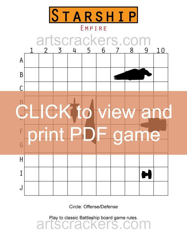 Starship-Game-Board Click to Print
