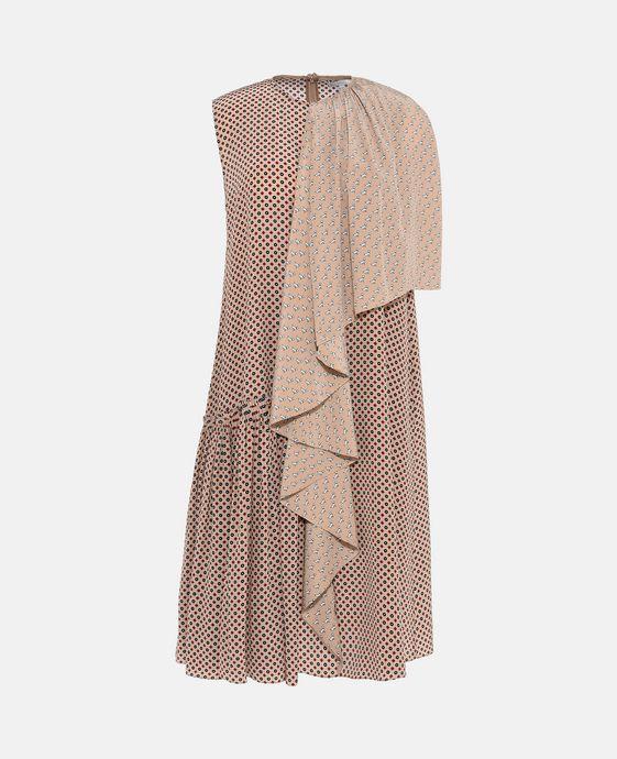 Emmanuelle Tie Print Silk Dress - Stella Mccartney Official Online Store - FW 2017 - 2018