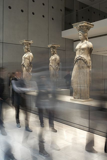 In the New Acropolis Museum you will find 5 of the 6 Caryatids from the Erechtheion. (Walking Athens, Route 05 - Lower Plaka)