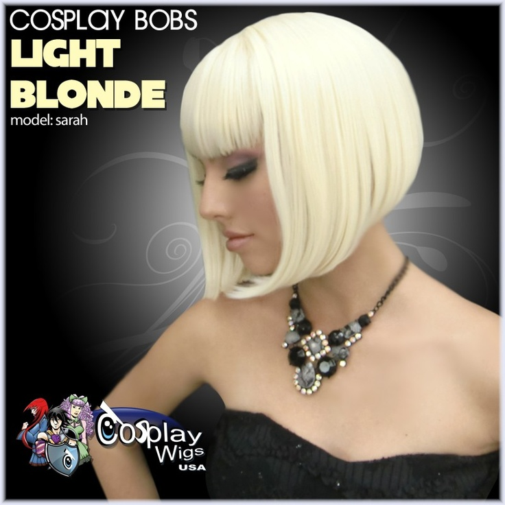 This Light Blonde Bob has a completely classic look for any occasion. $36 (http://cosplaywigsusa.com/cosplay-wigs-usa/cosplay-bobs-light-blonde/)
