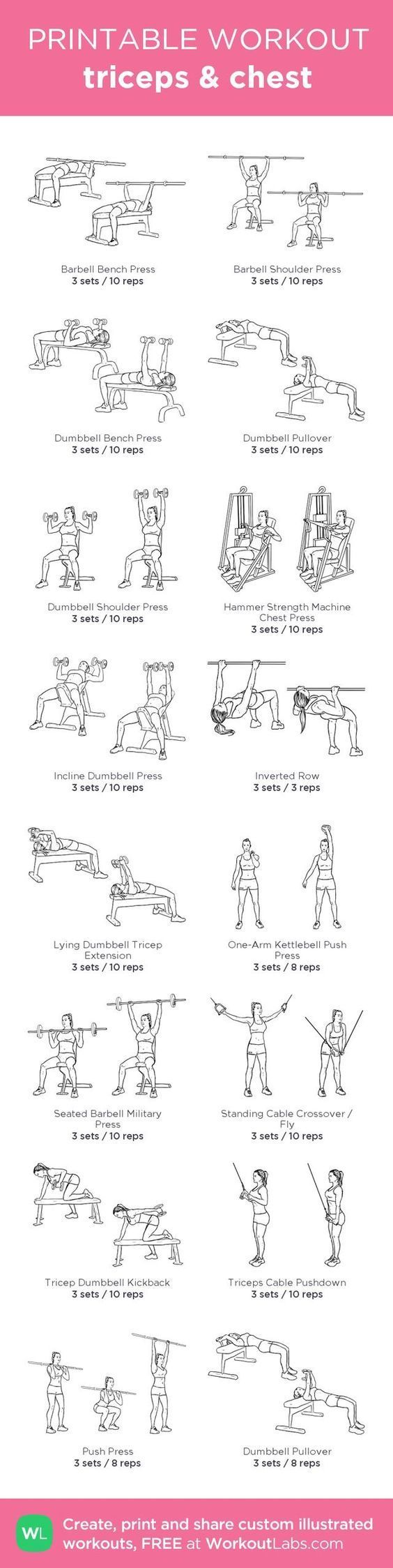Triceps and Chest Workout | Posted By: CustomWeightLossProgram.com