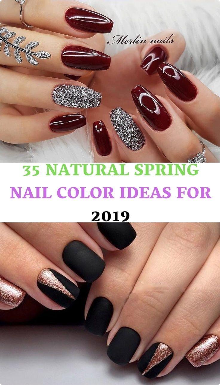 35 Natural Spring Nail Color Ideas For 2019 Nail Colors Spring