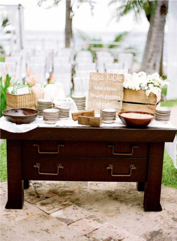 Ceremony toss table.: Wedding Ceremonies, Wedding Ideas, 20S Wedding, Toss Table, Tossing Table, Wedding Ceremony, Ceremony Traditions