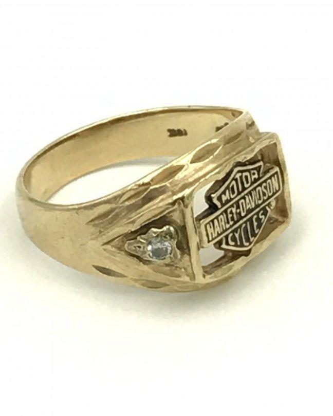 Harley Davidson Diamond Ring : harley, davidson, diamond, Yellow, Harley, Davidson, Stamper, Diamond, Ring,, Wedding, Rings,, Rings
