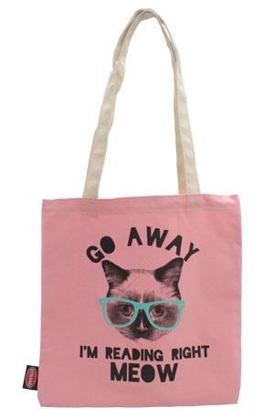 Tote Bag: Pink Reading Right Meow New Arrivals!
