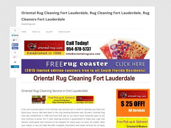 Oriental Rug Cleaning Service in Fort Lauderdale