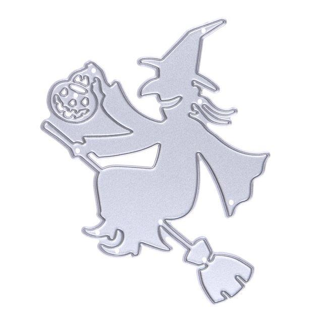 Метла Ведьмы Тыквы на Хэллоуин Металла Высечки Умирает для Записках DIY Альбом Бумажная Карточка Трафарет Бумага Умирает
