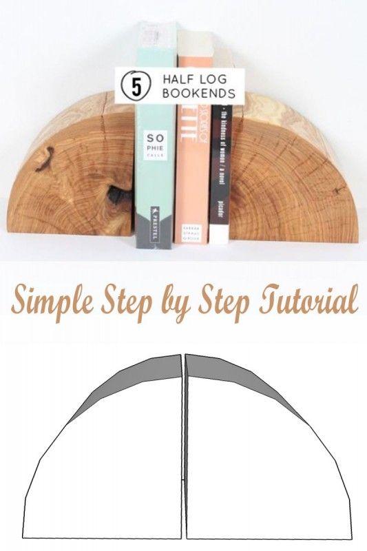Recreate gorgeous natural wood log bookends with this simple step by step tutorial.