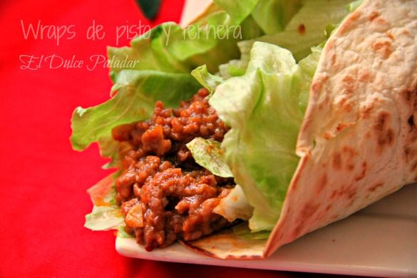 Wraps de Pisto y Ternera / Ratatouille and beef wraps