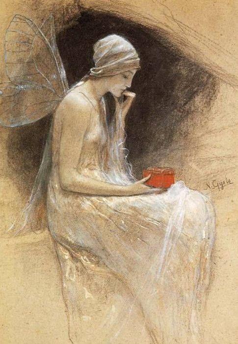 Psyche by Nikolaos Gyzis (1842-1901) via Dark and fantastic arts FB