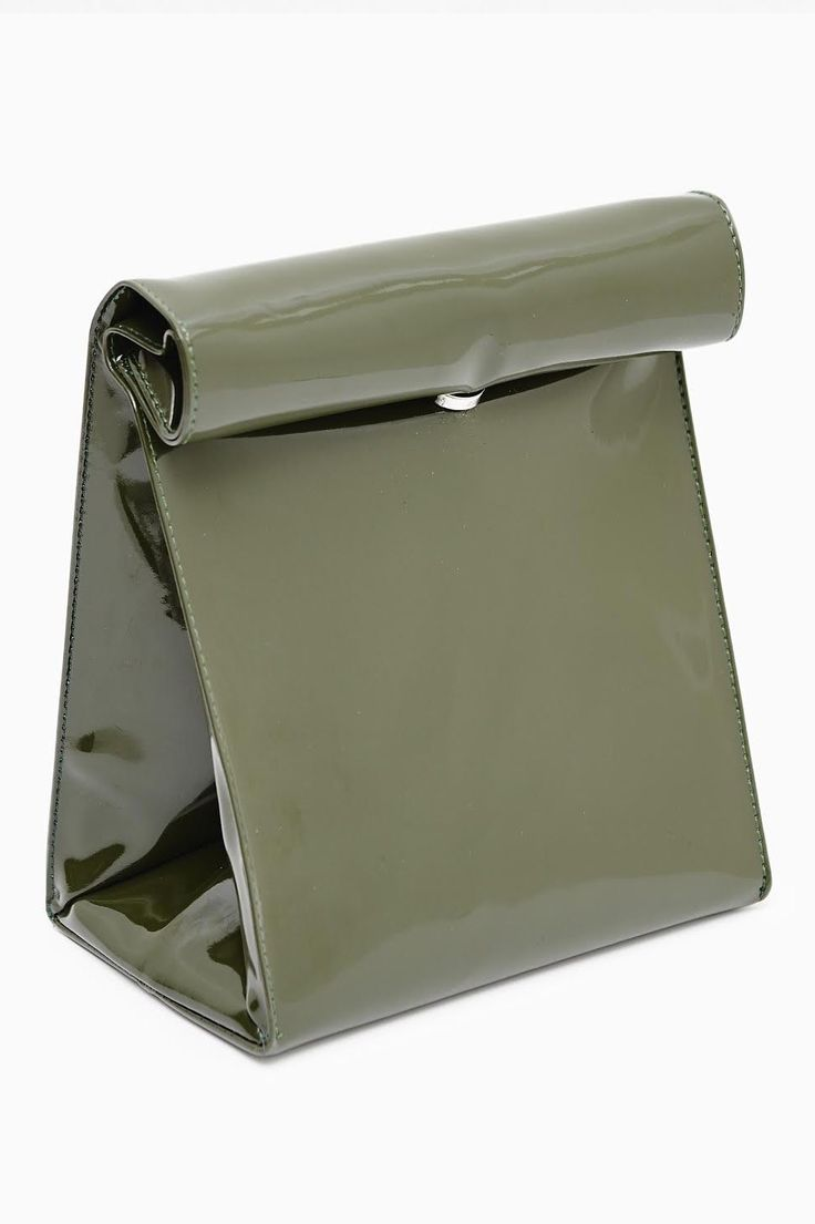 **NEW** SMK KHAKI PAPER BAG CLUTCH via WLLWPOPUP. Click on the image to see more!