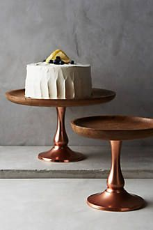 Interesting cake pedestal as well.  Timber & Ore Cake Stand - anthropologie.com