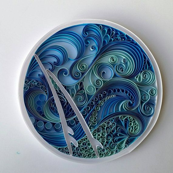 Check out this item in my Etsy shop https://www.etsy.com/uk/listing/270587898/quilled-wave-picture-including-surfboard