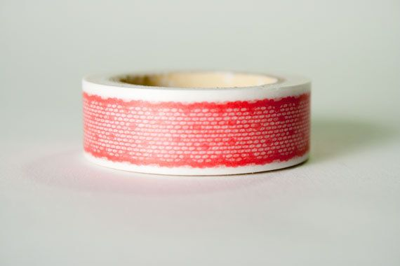Red Lace Masking Tape by HexagonInc on Etsy, $3.50