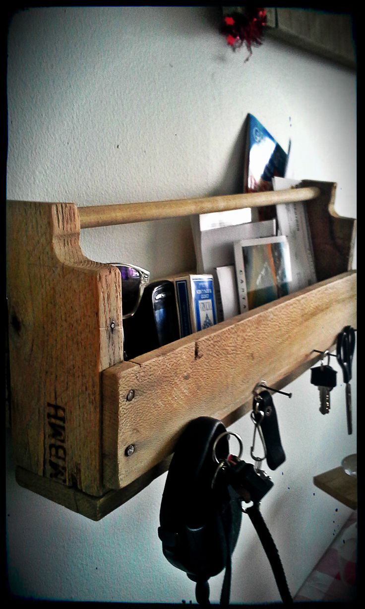 vide poche/porte clé #diy #wood #palet #bois #montréal