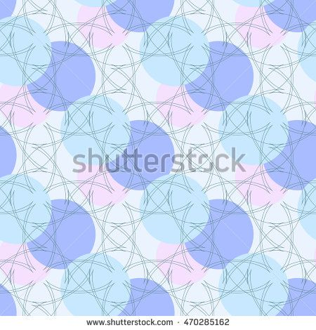 Seamless pattern. Elegant blue background with circular ornament. Vector…