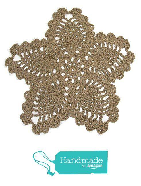 Flower Or Star Jute Rug 5 Pointed Crochet Pentacle Pentagram Area Natural