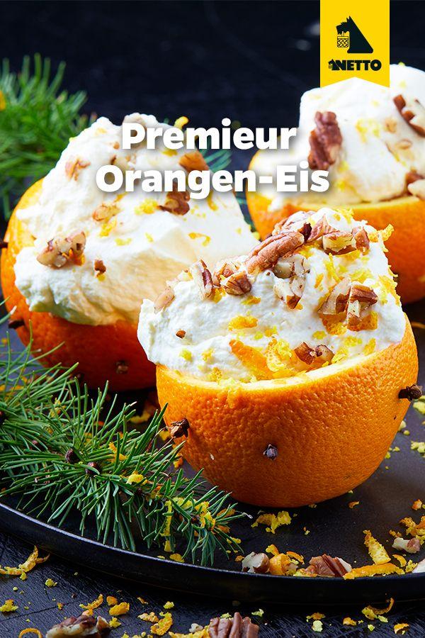 Eis In Einer Orangen Halfte Angerichtet Rezepte Rezept Orangeneis Lebensmittel Essen Orange