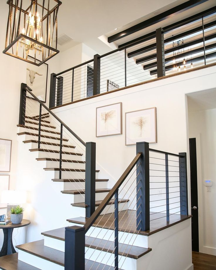 Industrial Design Staircase Home Staircase Decor House Design | Industrial Stair Railing Design | Industrial Style | All Metal Interior | Contemporary Metal | Small Stair | Detail Industrial