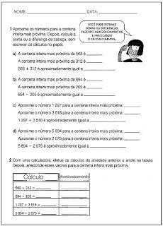SOS PROFESSOR-ATIVIDADES: Arredondamento
