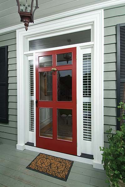 A close second to screen doors for me is this style. By far, the best option for a colonial style home. Gorgeous!