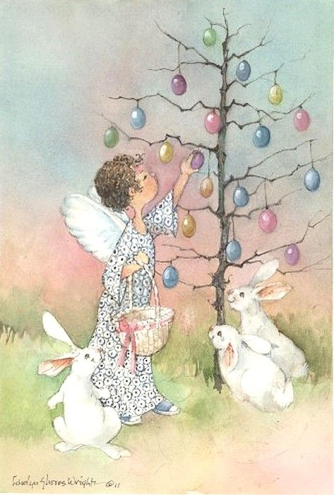 Carolyn Shores Wright  ––   Easter Egg Tree  (473x700)