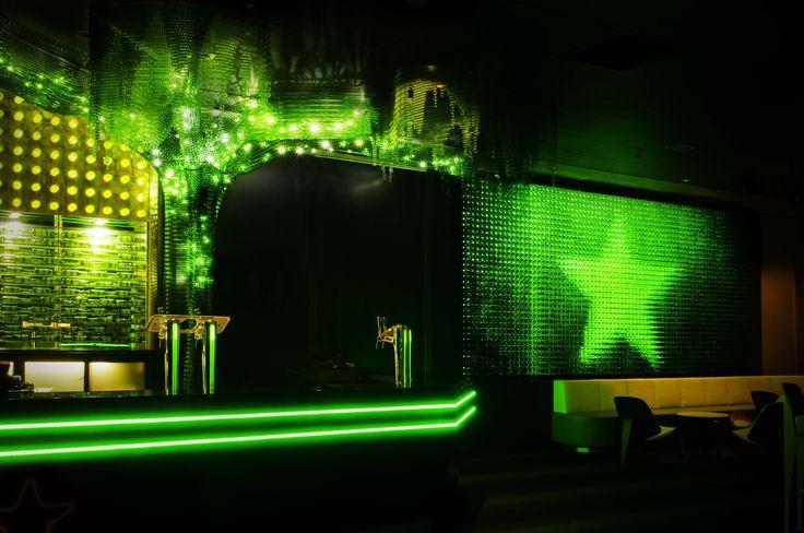 Custom Kaynemaile architectural mesh tree in Heineken Green Room at Vector Arena, Auckland