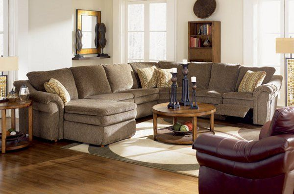 Inspiring Living Room With Comfortable Reclining Sofa By