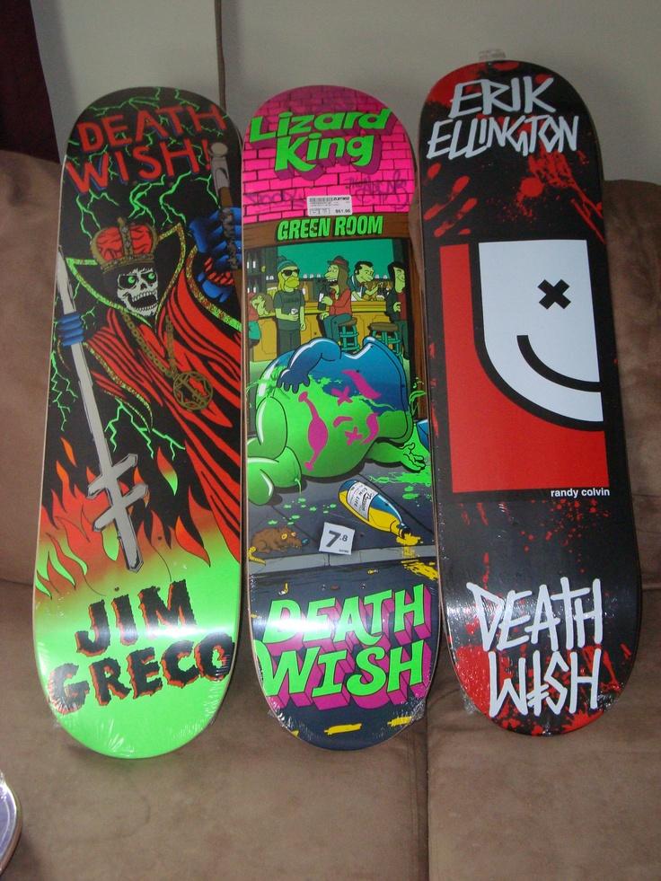 Lizard King, Jim Greco and Erik Ellington Deathwish boards