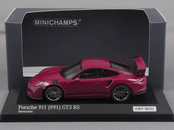 ポルシェ911/991 GT3 RS 2015紫1:43ミニチャンプスCA04316008_画像1