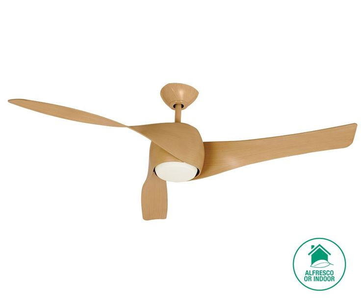 Artemis 147cm Fan with Light in Maple | Ceiling Fans | Fans also available in a darker timber finish $669 Beacon