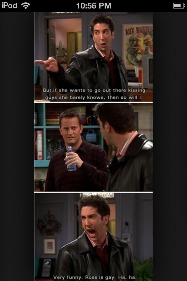 He knew Chandler would make a joke ahahaha