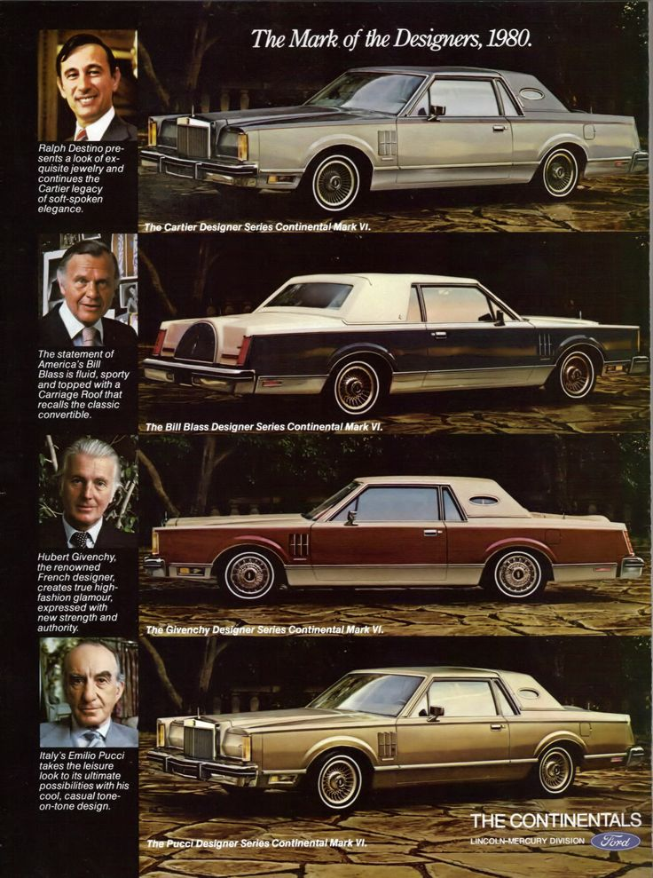 1980 lincoln continental mark vi designer series cartier bill blass hubert givenchy and. Black Bedroom Furniture Sets. Home Design Ideas