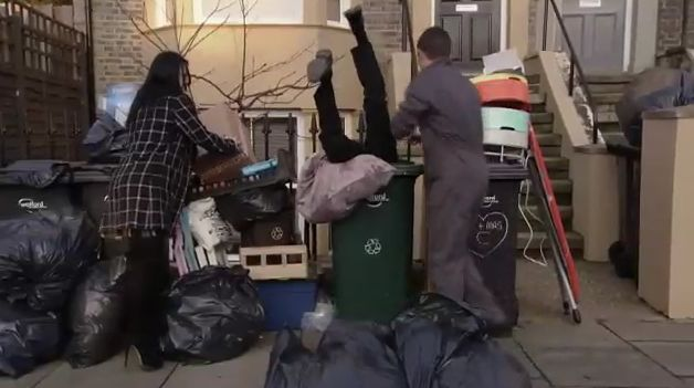 EastEnders: as Jay gets stuck in a bin here are 7 rubbish-related plotlines the soap could do