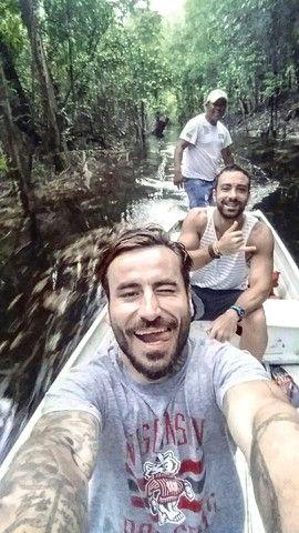 World Party TV Show in Amazon, with Sakis Tanimanidis, Georgios Mavridis