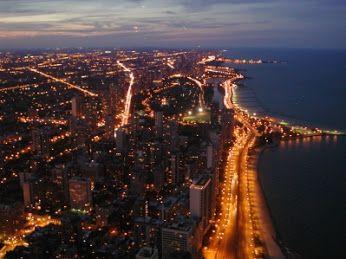 nad #chicago - zdjęcie z samolotu