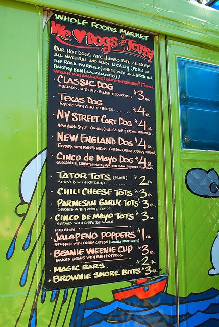16 Best Images About Food Truck Menus On Pinterest