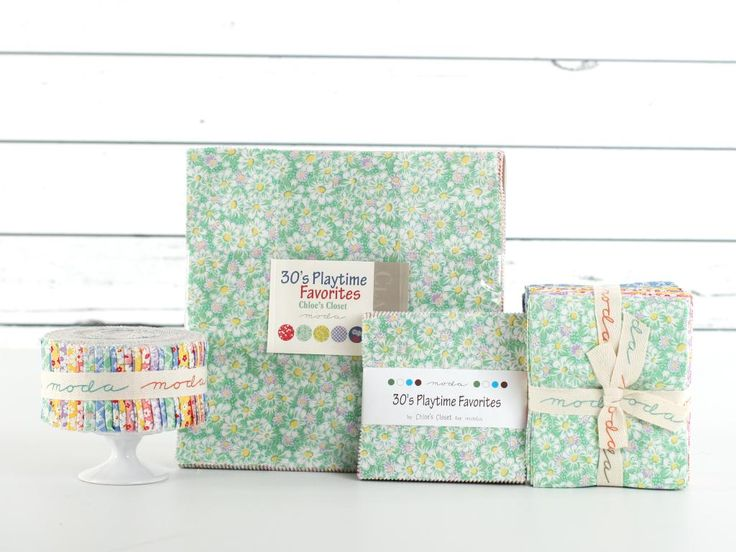 Fans of retro prints are sure to adore these charming Moda pre-cuts! The delightful Playtime Basics collection features an array 1930's ditsy prints. Use this lovely line for everything from purses to pieced quilts.