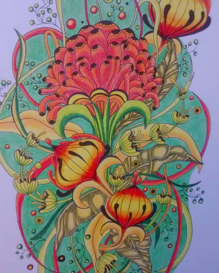 Botanicalwonderland Rachelreinertstudio Rachelreinert Adultcolouringbook Coloriage Colouring Coloringbook Marcorenoir