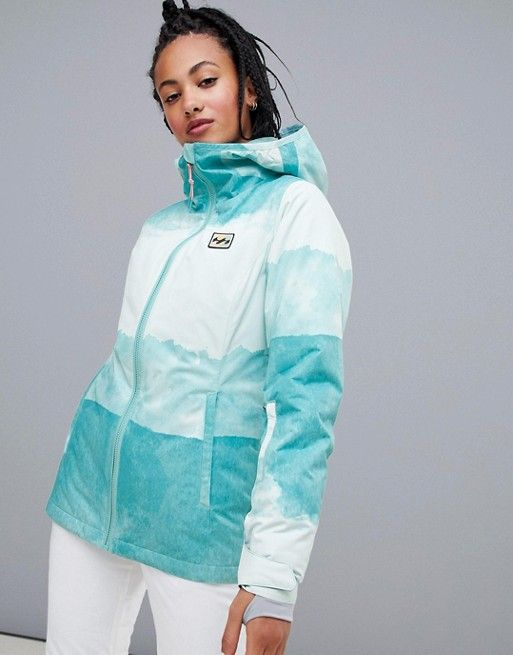 80b80d0aaf Billabong Sula printed ski jacket in blue in 2019