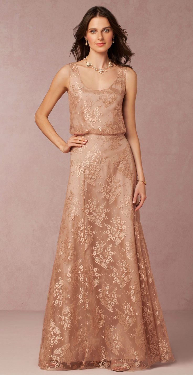 Rose gold beaded bridesmaid dress 'Natalya' from BHLDN