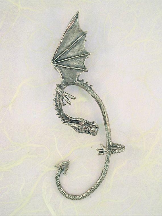 Dragon oído envoltura Dragon oído brazalete plata por martymagic